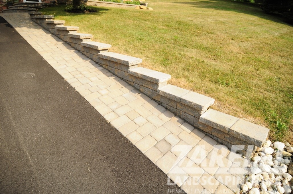 wall retaining chadds ford