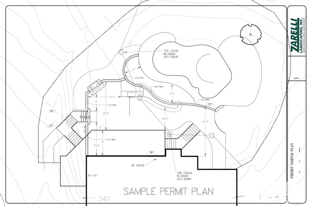 Landscaping design drawing for permit