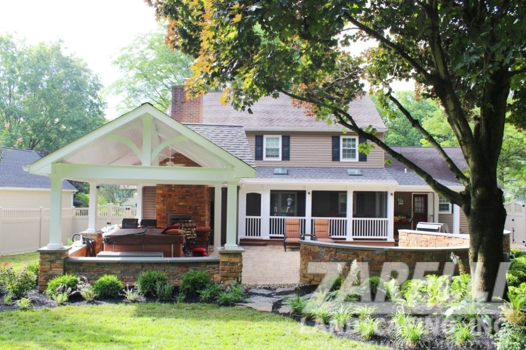 pavillion wall porch patio Landscape & Hardscape Inspiration Gallery