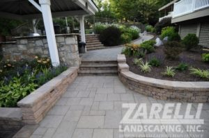 walkway retaining wall planter steps 1 Landscape & Hardscape Inspiration Gallery