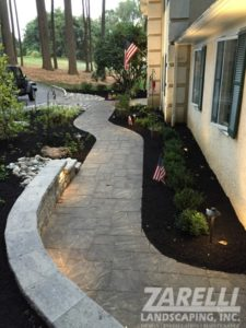 walkway wall patio Landscape & Hardscape Inspiration Gallery