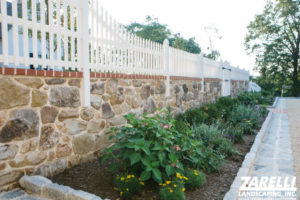 zarelli stone retaining wall and fence 1 Landscape & Hardscape Inspiration Gallery